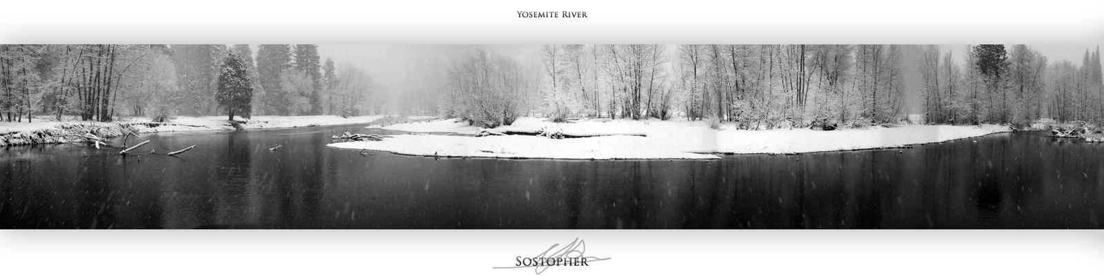 Yosemite River by Sostopher
