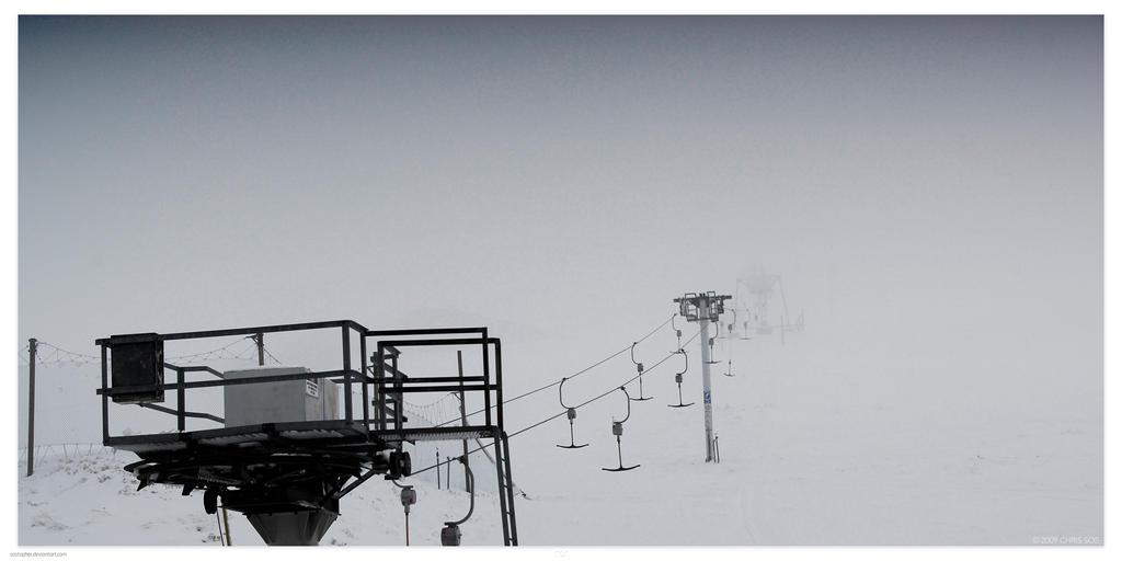 T-Bars in Fog by Sostopher