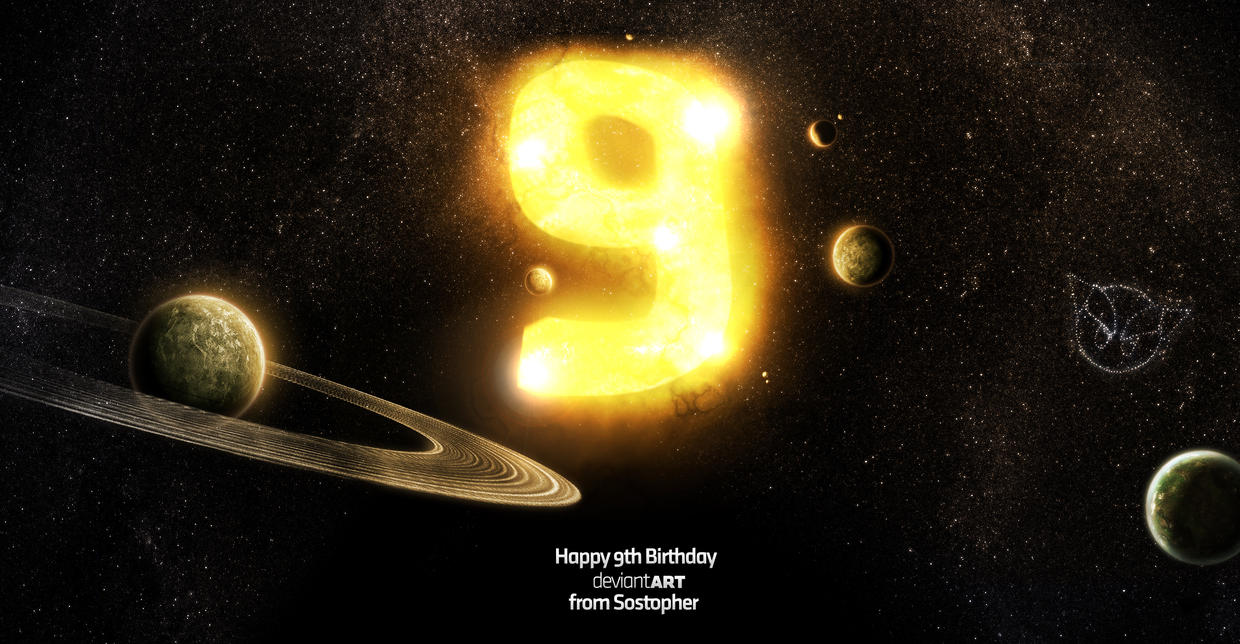 Number 9 - In space by Sostopher