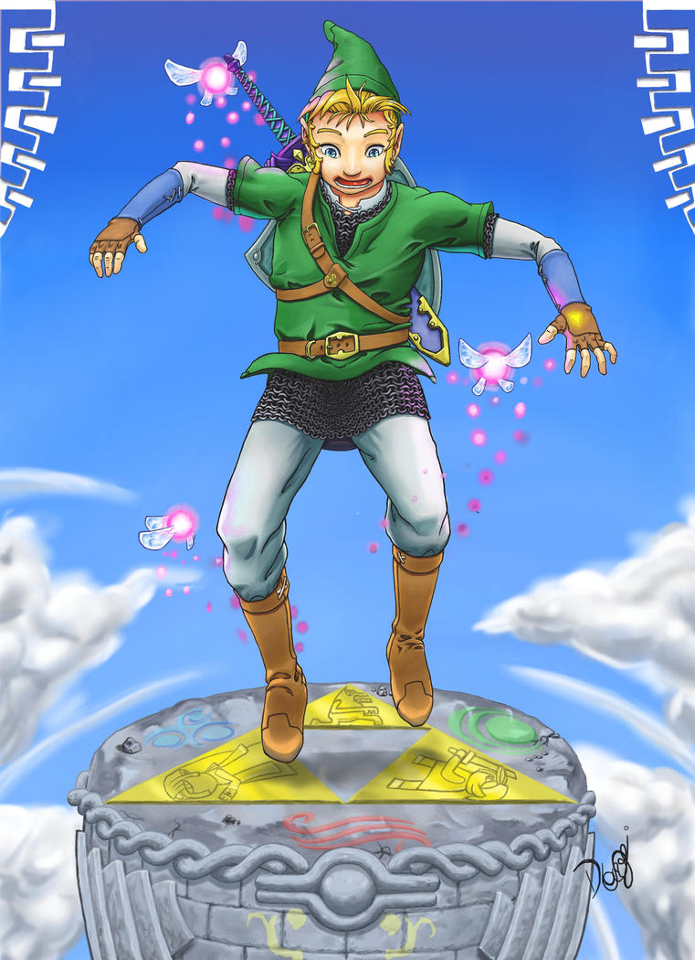 Link triforce by DaviLeopardo