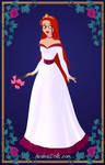 Ruby's wedding gown