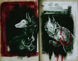 Bird Dogs in a Book by foxspitt