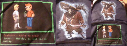 Bag-painting: Monkey Island by charlinedrice
