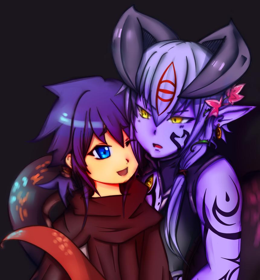 Monster Girl Quest: Al and Luka (Genderbent) by KarinSan01
