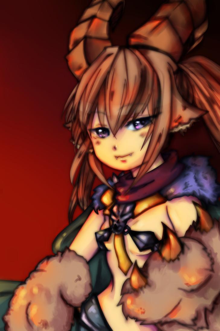Monster Girls Encyclopedia: Baphomet by KarinSan01