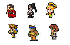 Final Fantasy X 16 bit by blakmajick