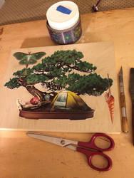 bonsai camping  by bluespectralmonkey
