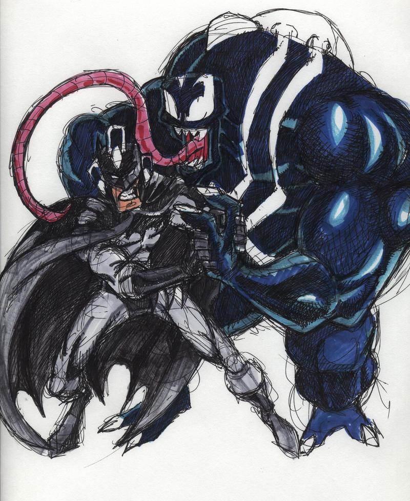 BATMAN VS VENOM - BATMAN KNIGHTFALL