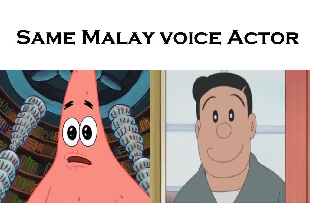 Patrick Star has a same voice as Nobisuke Nobi by Disney08