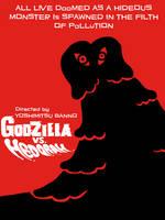 Godzilla vs Hedorah Saul Bass style poster