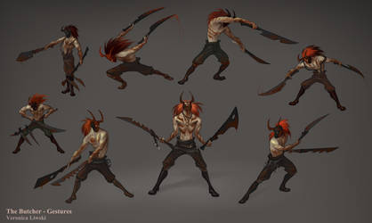 Butcher Gestures by ZombieLady