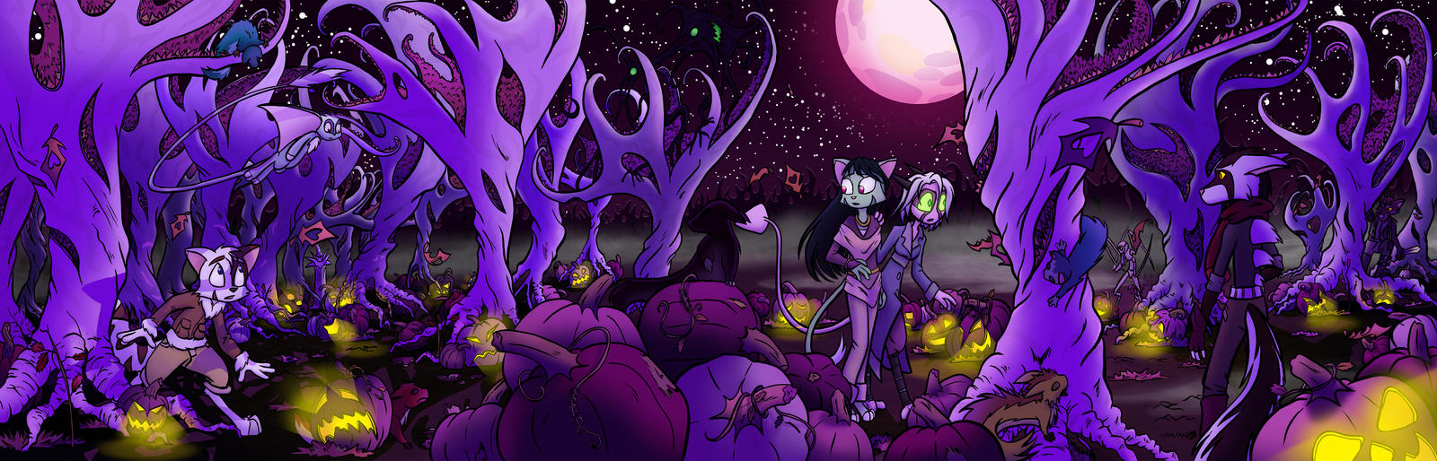 DK: Purple Forest by byakurai1313