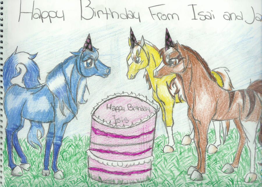 Happy Birthday Lil Blue Horse by CatcherOfDreamss on DeviantArt