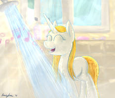 Shower Time by velocimaidfoxicorn