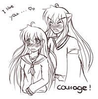 InuKag Week -  Courage by YuzuHane