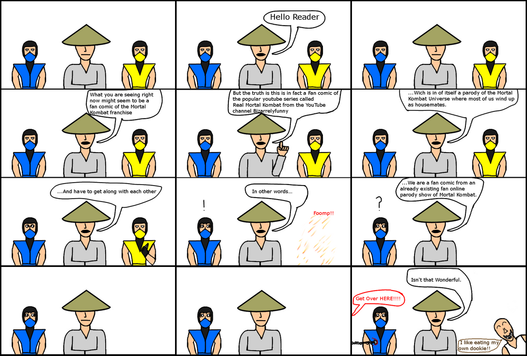 Real Mortal Kombat Bizarrelyfunny Comic by Michaelthevampire7