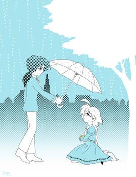 A blue rainy day