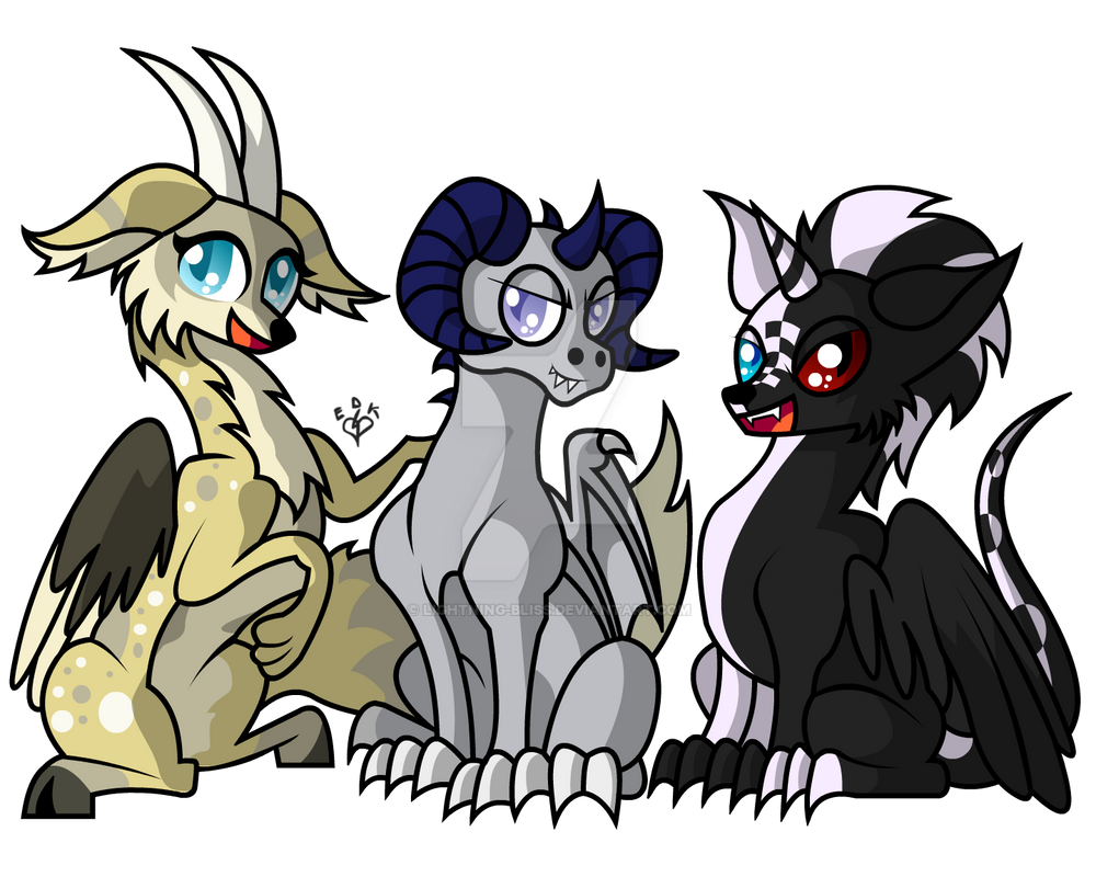 Comic Style Waco Dragon and Friends Commission by Lightning-Bliss