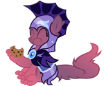 Wolfleader Eating Cookie Commission
