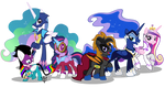 The New Power Ponies Commission by Lightning-Bliss