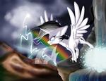 Rainbow Storm Print