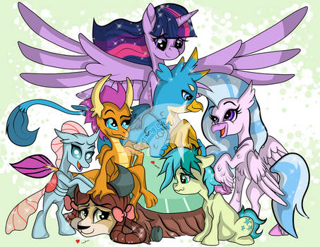 Student Mane 6 with Twilight Sparkle