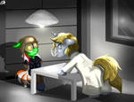 Fall Out Wondering Sunrise Interrogation Com by Lightning-Bliss