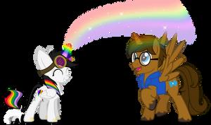 Sponge Learns Rainbow Magic Commission
