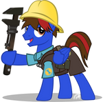 TF2 Blue Engineer Lego Brony Commission