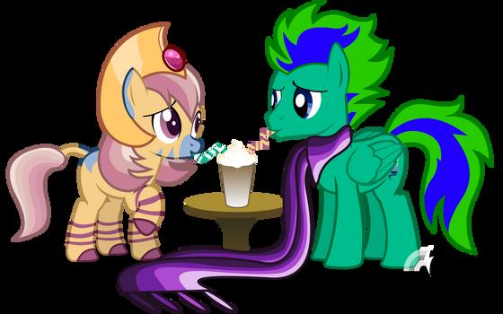 Sharing a Milkshake Cyngus and Gale
