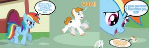 Rainbow Dash Sneak Up On Vanillia Comic Commission