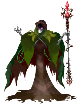 Nameless the Circle of Spores Druid Commission