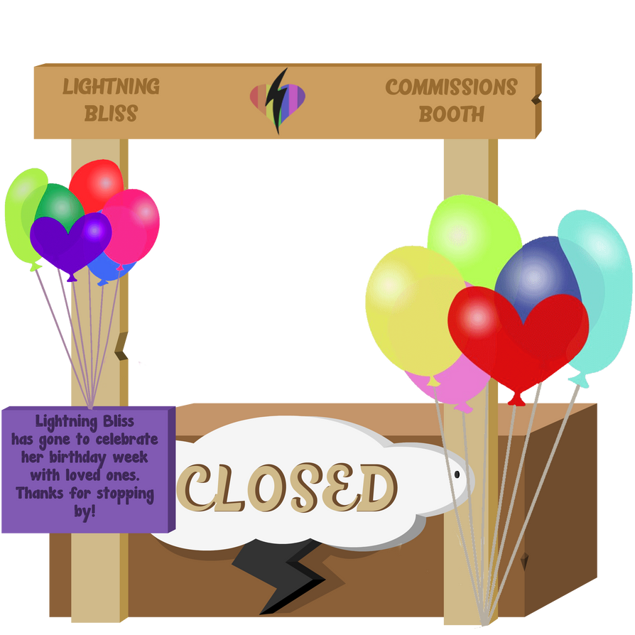 Birthday Pride Month Sale Booth CLOSED