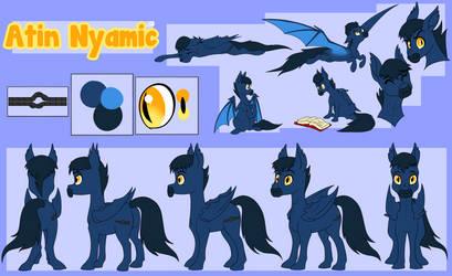 Atin Nyamic Character Reference Sheet Commission