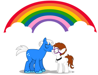 Honey and Sweet Tooth Rainbow Nuzzles Commission