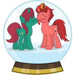 Updated Snowglobe Jasper and Harmony Commission by Lightning-Bliss