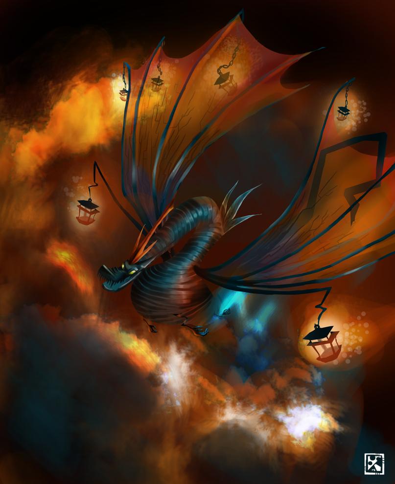 The lantern dragon by MimiLeChampi
