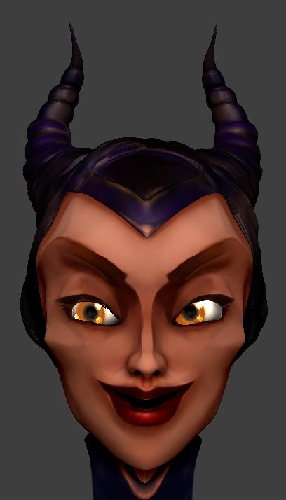 Maleficent Portrait by MimiLeChampi