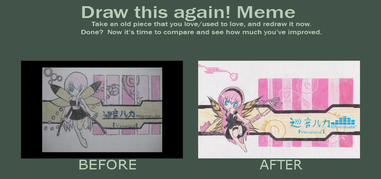 Before and After: Pixie Megurine + Pinku Yosei by NisuKitsune