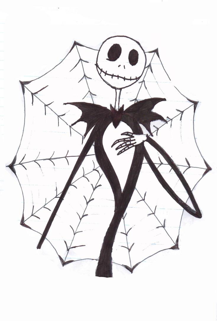 Jack skellington by fallenprophecy on deviantart for Jack skellington coloring pages