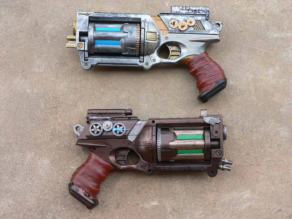 Steampunk Pistols 02 by lizardman22