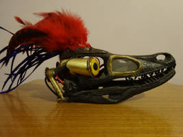 Steampunk Servo Skull: Velociraptor 01 by lizardman22