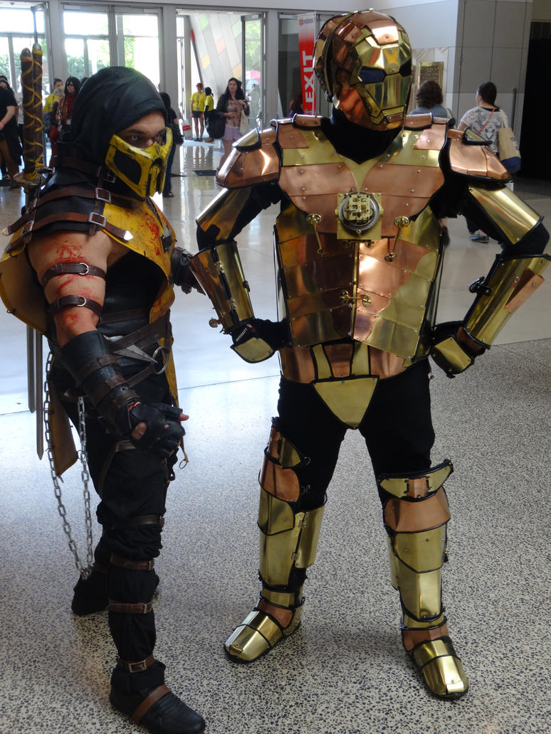 Scorpion And Steampunk Iron Man by lizardman22