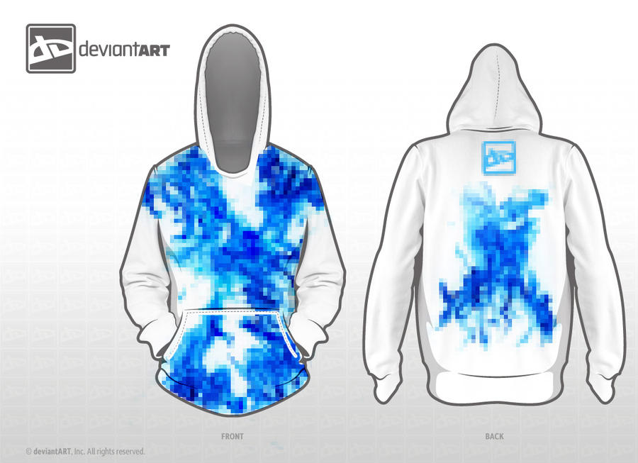 Blue Fire Hoodie by jflaherty90
