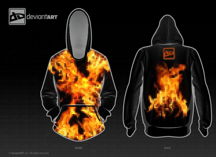 Black Fire Hoodie by jflaherty90