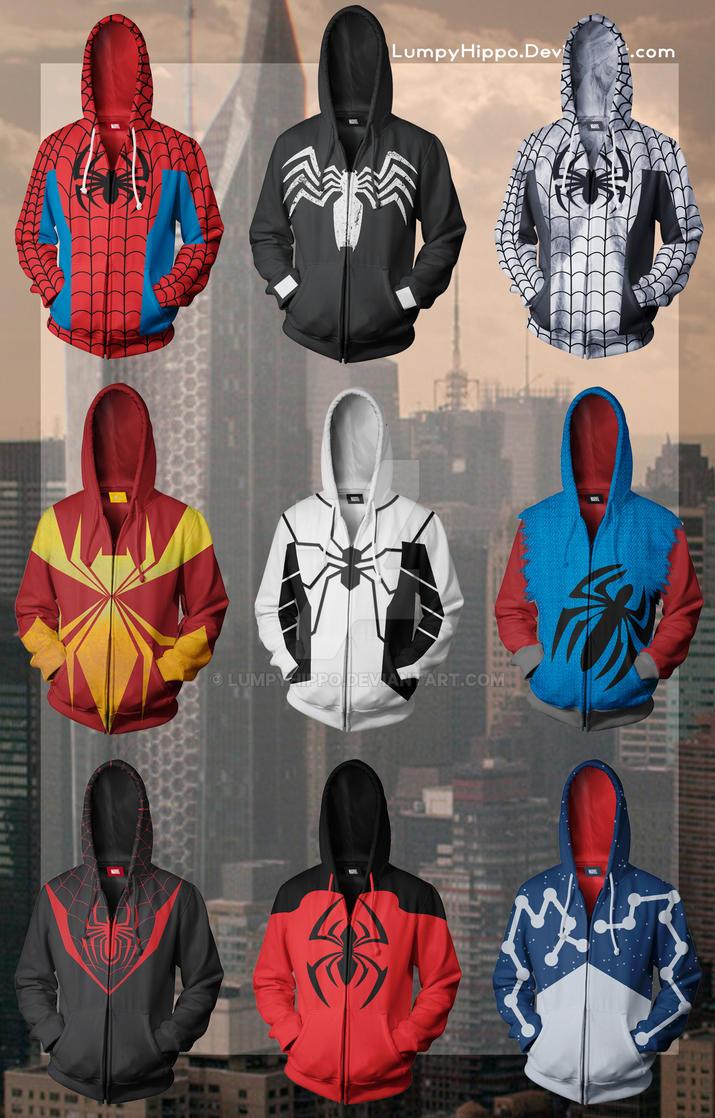 afba36f75 Spider-Man Hoodies by lumpyhippo on DeviantArt