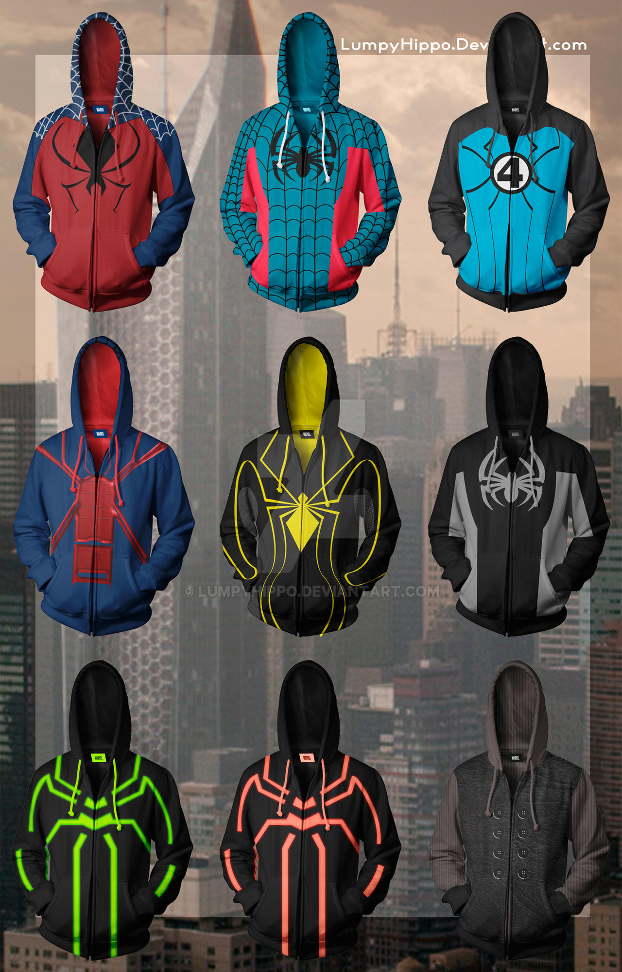Spider-Man Hoodies 2 by lumpyhippo