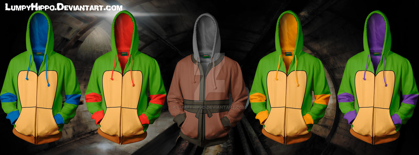 TMNT Hoodies by lumpyhippo