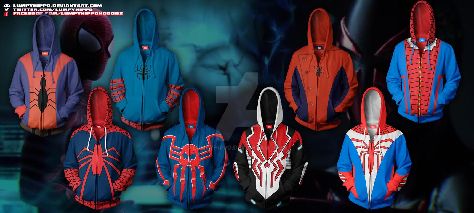 Blue scarlet spider hoodie