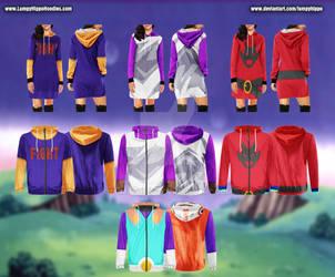 Dragon Ball Z Hoodies 13: Videl by lumpyhippo